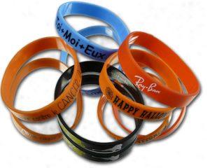 bracelets silicone imprimés