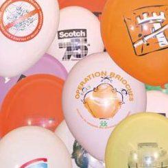 Ballons imprimés en quadri