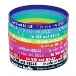 bracelet silicone fin et imprimé