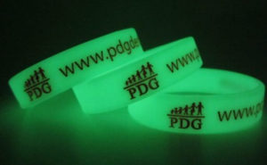 bracelet silicone phosphorescent imprimé