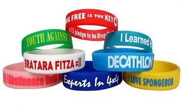 Les options pour les bracelets silicone