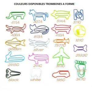 couleur trombone à forme personnalisé